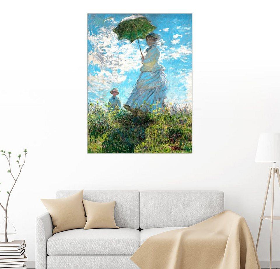 posterlounge wandbild claude monet frau mit sonnenschirm madame monet und ihr online. Black Bedroom Furniture Sets. Home Design Ideas