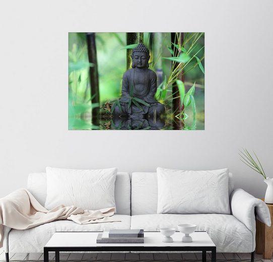 Posterlounge Wandbild - Renate Knapp Waldundwiesenfee »Buddha Bambus«