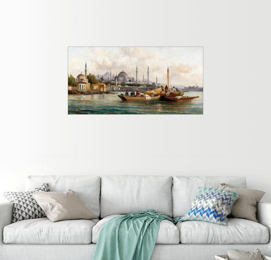 Posterlounge Wandbild - Anton Schoth »Handelsschiffe vor der Hagia Sophia, Istanbul«