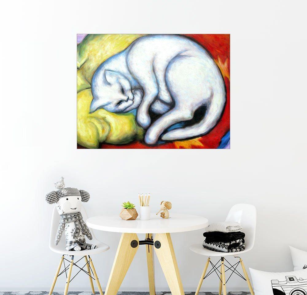 Posterlounge Wandbild - Franz Marc »Die weiße Katze« | Dekoration > Bilder und Rahmen > Bilder | Holz | Posterlounge
