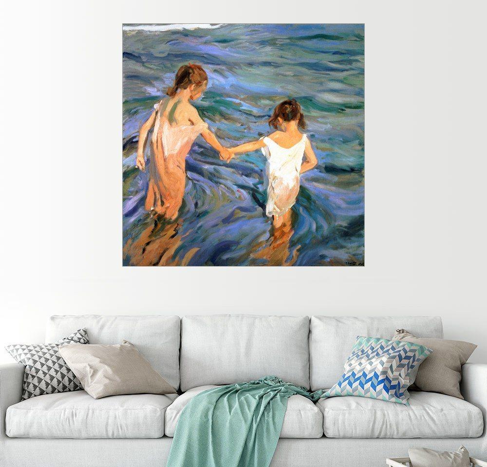 Posterlounge Wandbild - Joaquin Sorolla y Bastida »Kinder im Meer«