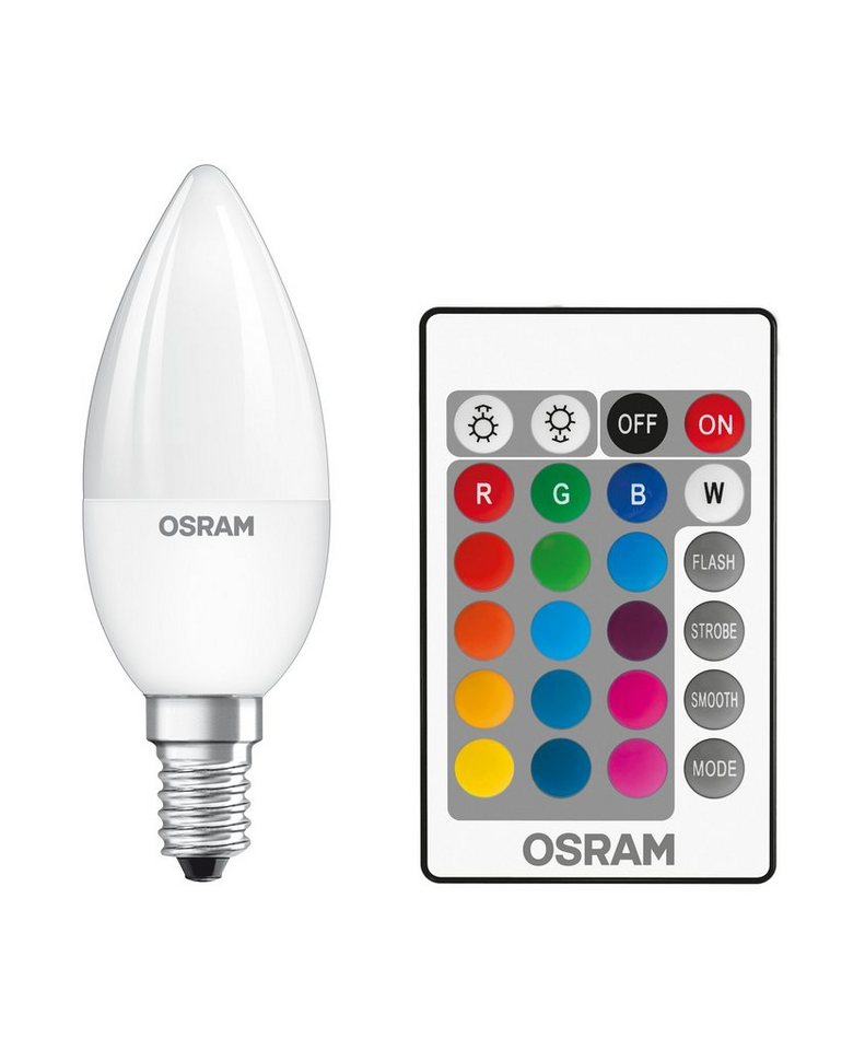 osram consumer led rgbw lampe mit fernbedienung st clas b 25 4 5 w 827 e14 rgbw online kaufen. Black Bedroom Furniture Sets. Home Design Ideas