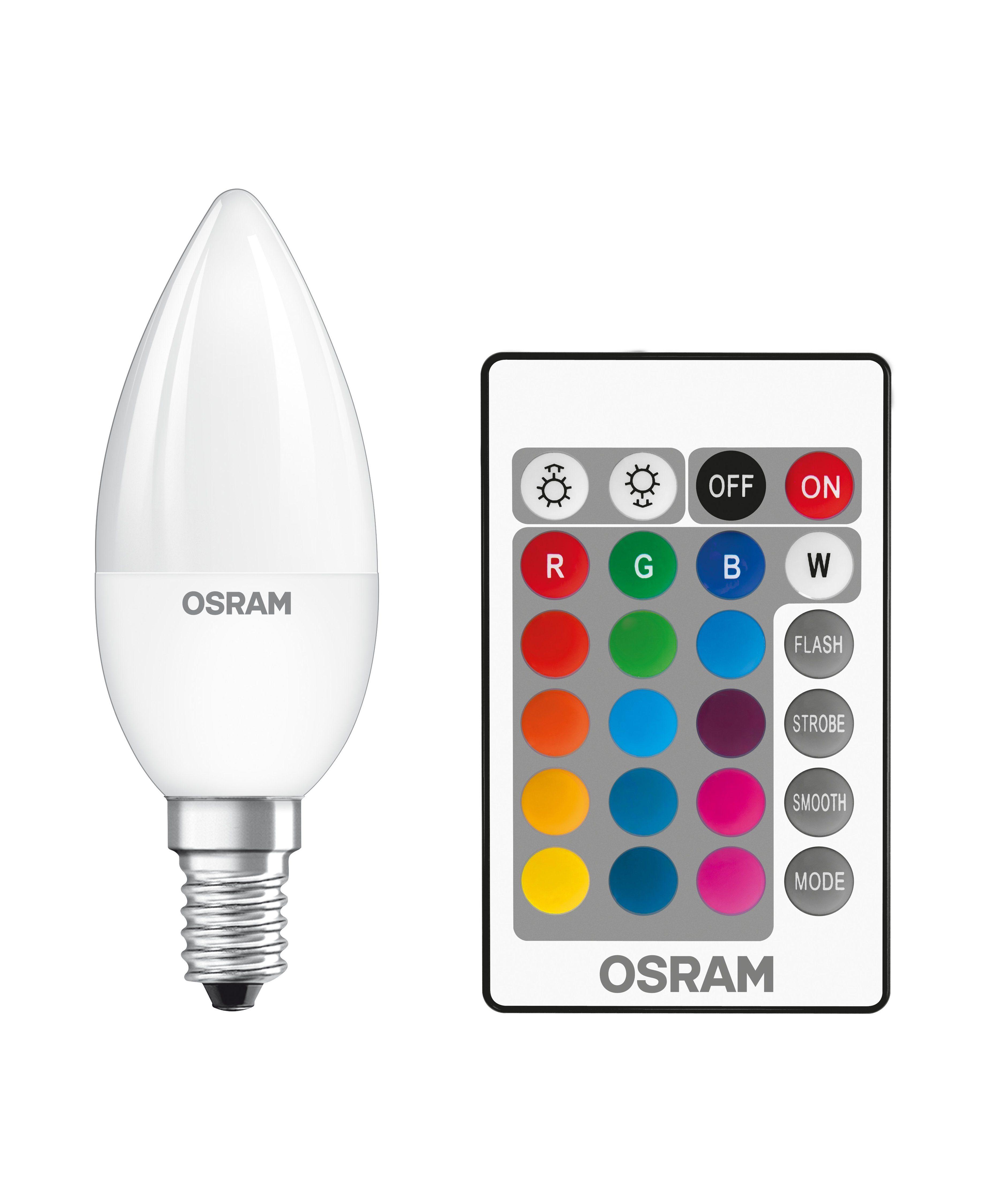 Osram Consumer LED-RGBW-Lampe mit Fernbedienung »ST CLAS B 25 4.5 W/827 E14 RGBW«