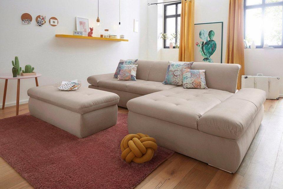 polsterecke mit recamiere wahlweise mit bettfunktion und armlehnverstellung online kaufen otto. Black Bedroom Furniture Sets. Home Design Ideas