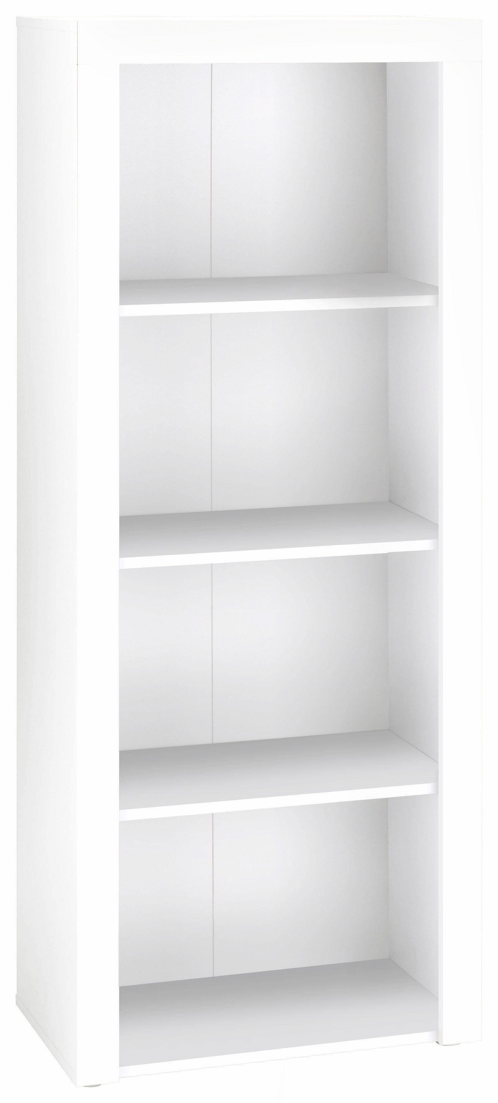 B x H x T 60 x 75 x 30 cm Regal Bücherregal Stauraumregal Büroregal weiss ca