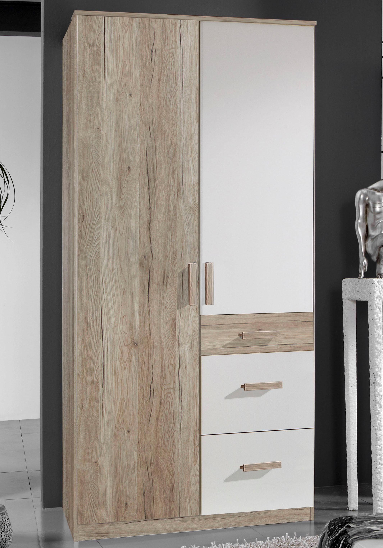 Kleiderschrank »Bergamo« 2-trg. in San Remo eiche NB/ alpinweiß