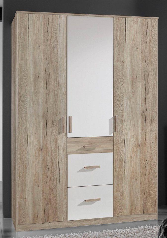 gro er kleiderschrank 3 trg bergamo in san remo eiche. Black Bedroom Furniture Sets. Home Design Ideas