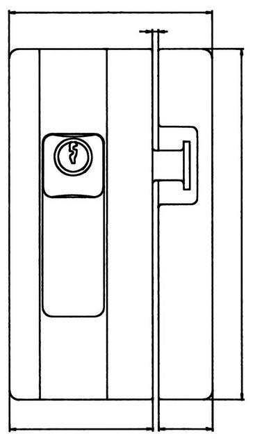 Burg-Wächter Fenster- & Türsicherungen BLOCKSAFE B1 Farbe: weiß