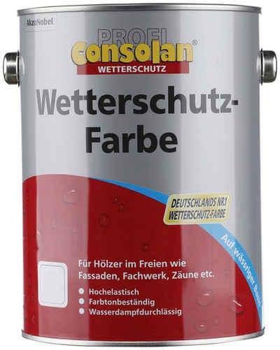 Consolan Wetterschutzfarbe »Profi Holzschutz«, 2,5 Liter, grau