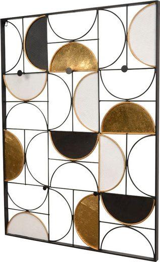 Wandgarderobe, aus Metall, Höhe 101,5 cm, Wandmontage, waagerechte Aufhängung möglich