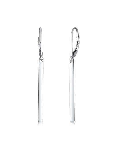 Elli Paar Ohrhänger »Basic Hänger Geo Stab Look 925 Silber«