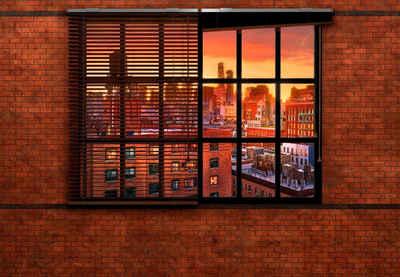 Komar Fototapete »Brooklyn Brick«, glatt, bedruckt, Stadt, Kunst, (Set), ausgezeichnet lichtbeständig