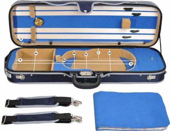 Steinbach Violinen-Koffer »Steinbach 4/4 Geigenkoffer Rechteckmodell blaubeige mit Rucksackriemen«