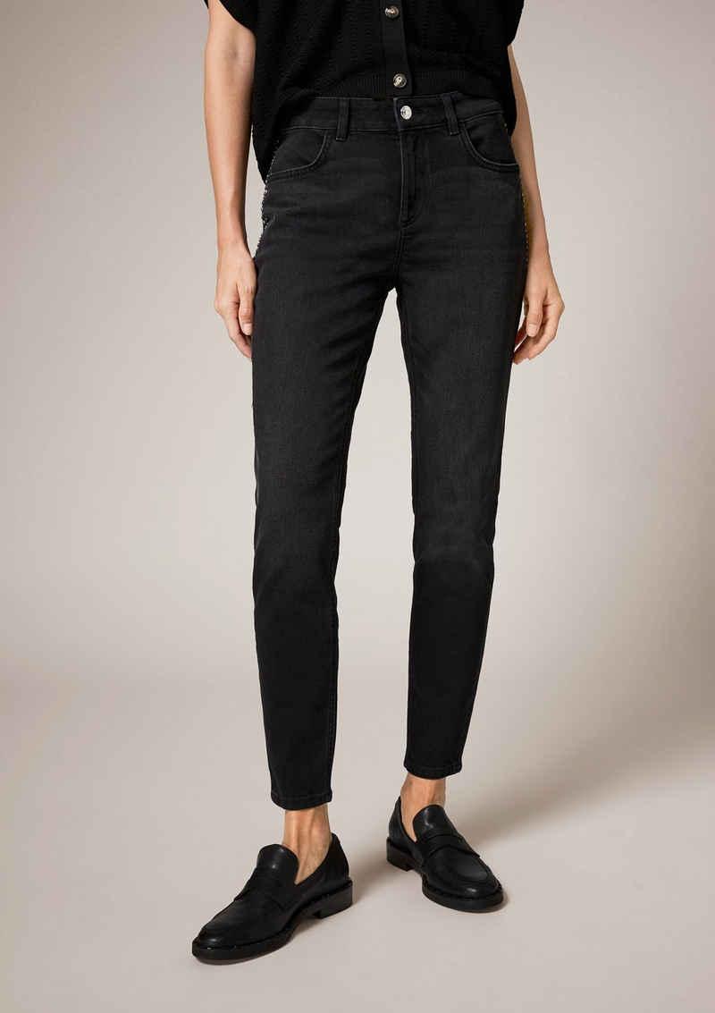 Comma 5-Pocket-Jeans »Slim: Jeans mit Nieten« Nieten