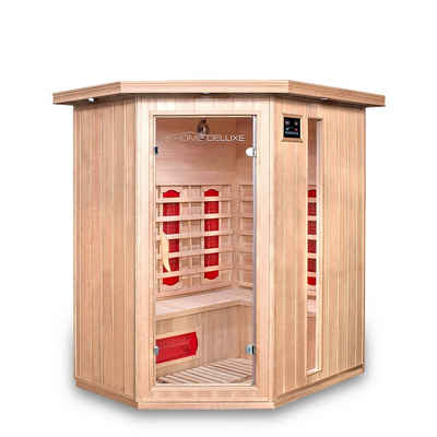 HOME DELUXE Infrarotkabine »Redsun XL«, Keramikstrahler, Hemlocktanne, Maße: 155 x 120 x 190 cm, Infrarotsauna für 2-3 Personen, Sauna, Infrarot, Kabine