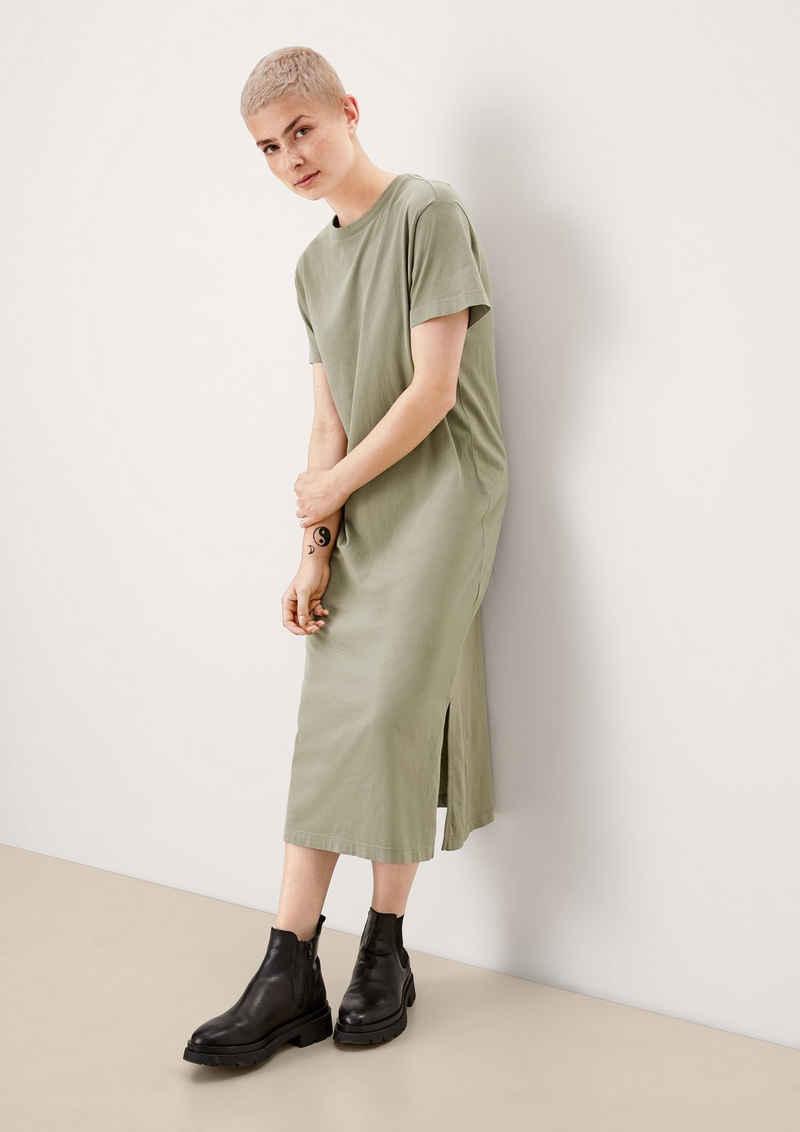 s.Oliver Maxikleid »Shirtkleid aus Baumwolljersey« Garment Dye