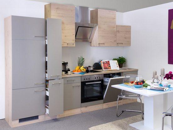 Küchenzeile mit E-Geräten »Riva«, Gesamtbreite 310 cm