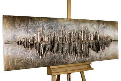 KUNSTLOFT Holzbild »Frequency 1000«, handgefertiges Wandbild aus Holz
