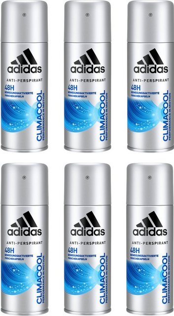 adidas Performance Deo-Spray »Climacool«, Spar-Set, 6-tlg., Anti-Transpirant Spray für Männer