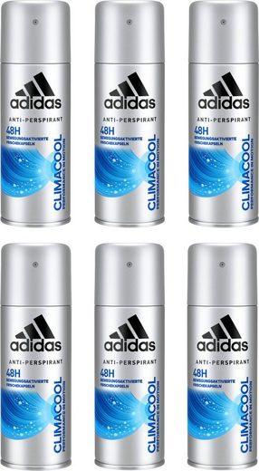 adidas Performance Deo-Spray »Climacool«, Spar-Set, 6-tlg., Anti-Transpirant Spray für Männer