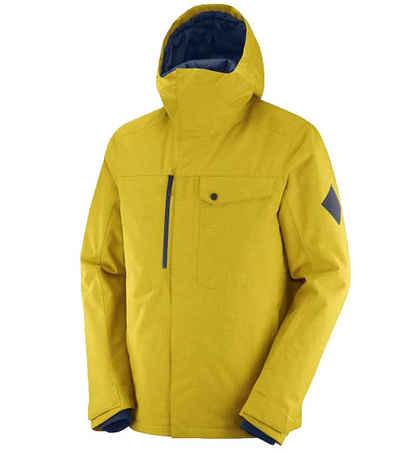 Salomon Trainingsjacke »Salomon Powderstash Ski-Jacke hochgeschlossene Herren Outdoor-Jacke mit Kapuze Winter-Jacke Gelb«