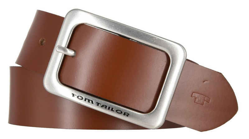 "TOM TAILOR Ledergürtel »Tom Tailor Gürtel ""Eve"" 35 mm Damengürtel klassisc«"