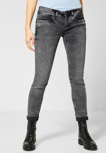 STREET ONE Comfort-fit-Jeans mit Crinkles