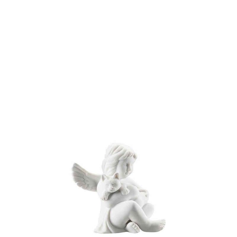 Rosenthal Engelfigur »Engel klein Weiß matt Engel mit Katze 6,5 cm« (1 Stück)