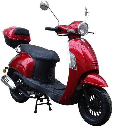 GT UNION Motorroller »Massimo«, 50 ccm, 45 km/h, Euro 4, (Set), inkl. Topcase