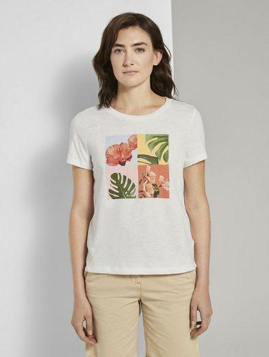 TOM TAILOR T-Shirt »T-Shirt mit Collagen-Print«