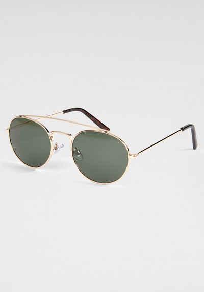 BASEFIELD Sonnenbrille mit goldfarbenem Vollrand