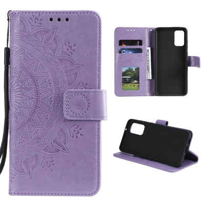 CoverKingz Handyhülle »Samsung Galaxy A52 Handy Hülle Flip Case Cover Schutzhülle Tasche Mandala Lila« Samsung Galaxy A52 16,5 cm (6,5 Zoll), Handytasche mit Mandala Motiv und Kartenfach