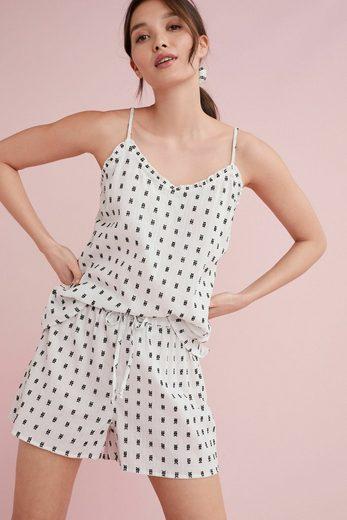 Next Pyjama »Gewebtes, kurzes Set mit Haargummi« (3 tlg) Short Set
