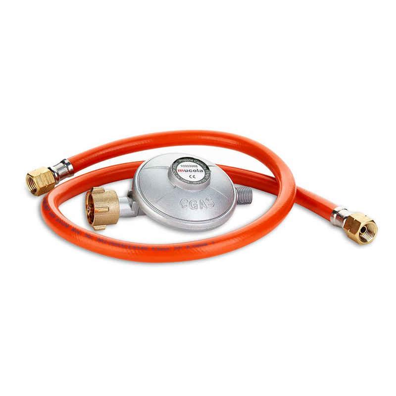 Mucola Gasgrill »80CM Gas Schlauch + Druckminderer Gasregler Propanschlauch Regeler Propan Butan«, Sicherheitsventil