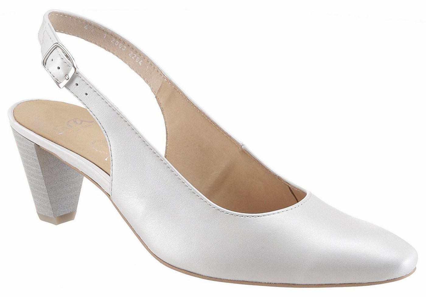 Damen Ara Slingpumps perfekt als Brautschuh weiß   04054928125648
