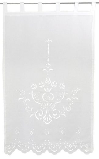 Vorhang »Ortler«, HOSSNER - ART OF HOME DECO, Schlaufen (1 Stück)