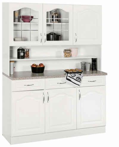 Küchenbuffet linz 120 cm breit in landhaus optik wiho küchen