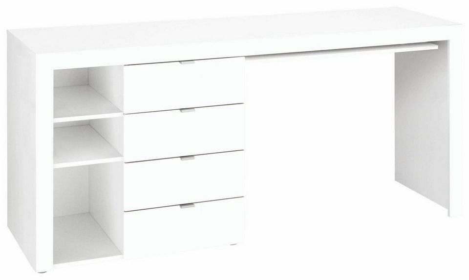 Borchardt Möbel Schreibtisch »Wim« mit 3 Fächern und 4 Schubkästen ...