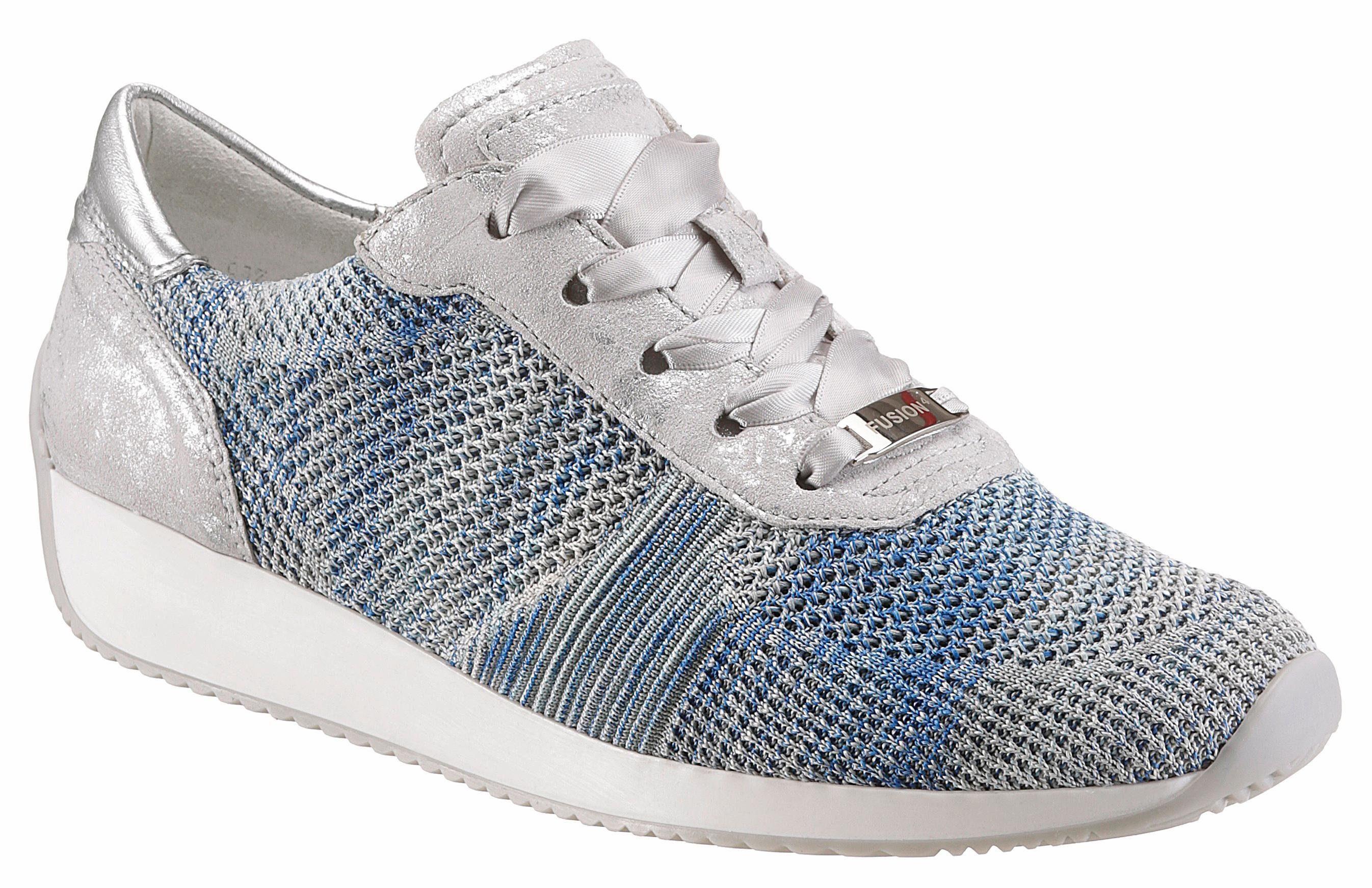 Ara Sneaker, mit modischen Satin-Schnürsenkeln, blau, 4 4
