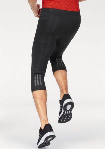 adidas Performance Lauftights RESPONSE 3/4 TIGHT M, mit praktischer Reißverschlusstasche