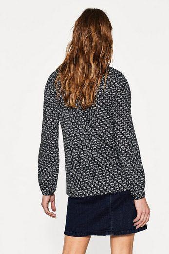 ESPRIT Fleißende Bluse mit Blumen-Print