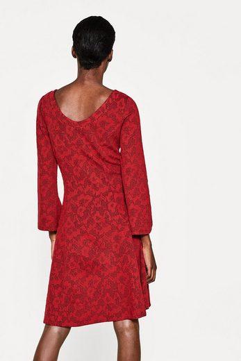 ESPRIT Ausgestelltes Sweat-Kleid mit Struktur
