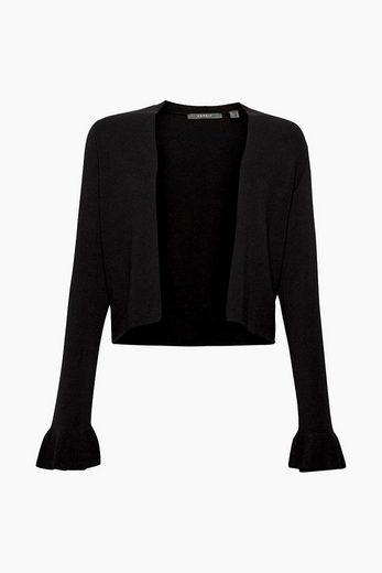 ESPRIT COLLECTION Femininer Strick-Bolero mit Volant-Ärmeln