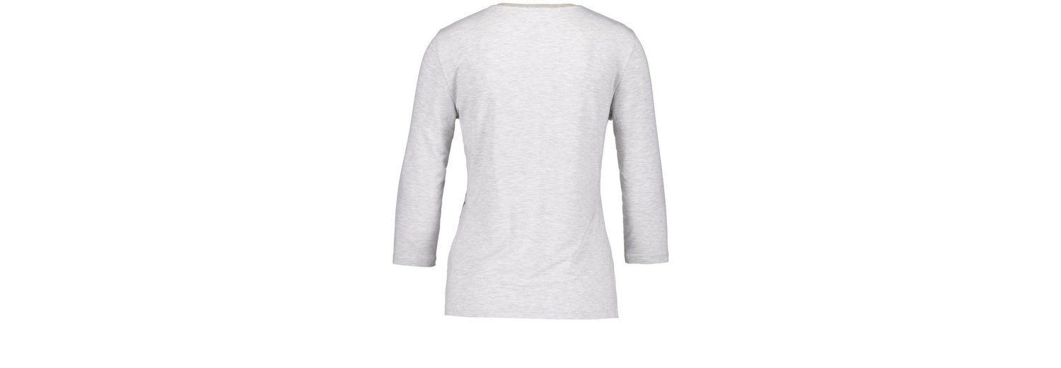Gerry Weber T-Shirt 3/4 Arm 3/4 Arm Shirt mit Frontdruck Preiswerte Reale Eastbay t0sUA