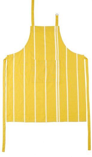 stuco Kochschürze »Streifen«, (1-tlg), mit Tasche und jacquardartiger Streifenwebung