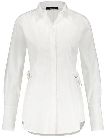 Taifun Bluse 1/1 Arm Hemdbluse mit Taillenriegel