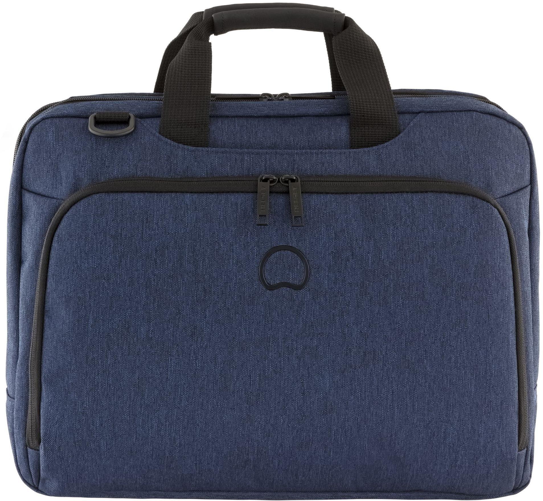 DELSEY Aktentasche mit 15,6-Zoll Laptopfach, »Esplanade, 2 Fächer, navy«