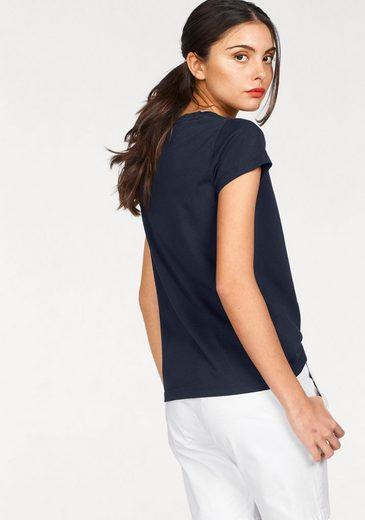 Gant T-Shirt, mit Logo-Frontprint