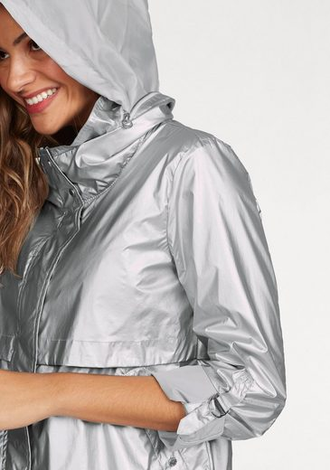 Tom Tailor Outdoorjacke, in trendiger Metallic-Optik