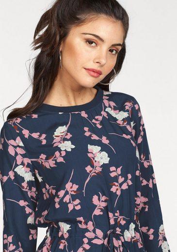 minimum Druckkleid Venia Dress, mit Blumenprint und Tunnelzug im Taillenbereich